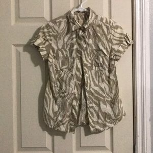 MICHAEL KORS zebra striped shirt size 2P